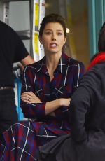 JESSICA BIEL Out for Lunch in West Hollywood 10/30/2017