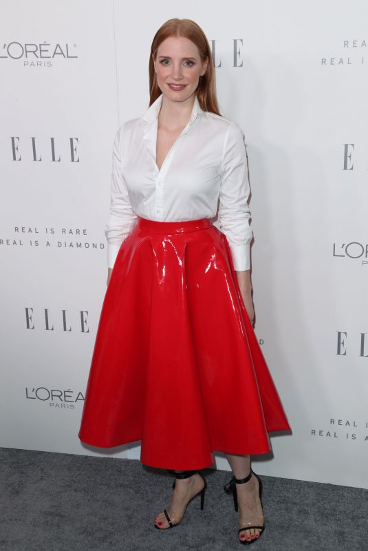 JESSICA CHASTAIN at Elle Women in Hollywood Awards in Los Angeles 10/16/2017