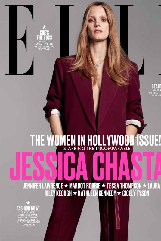 JESSICA CHASTAIN in Elle Magazine, Women in Hollywood Issue, November 2017
