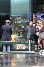 JESSICA SERFATY and Ed Westwick at Jeweler Edouard Nahum in Paris 10/23/2017