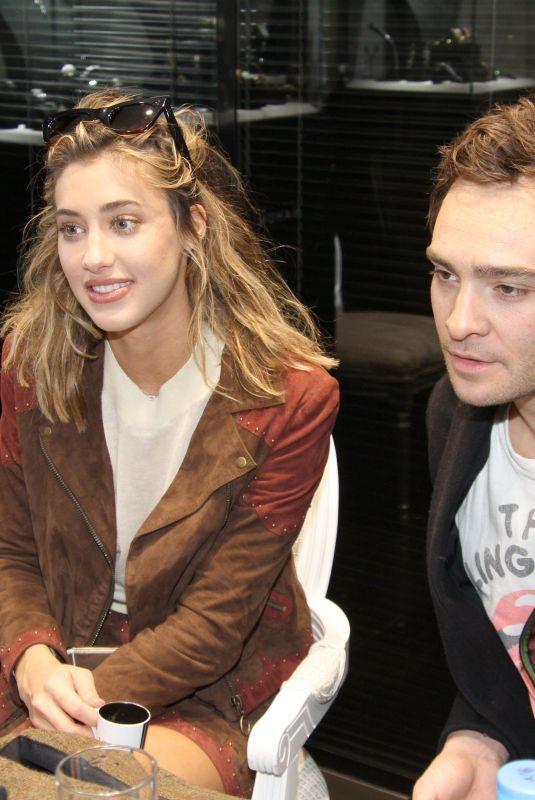 JESSICA SERFATY and Ed Westwick at Jeweler Edouard Nahum in Paris 10/23/2017