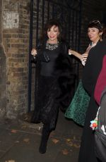 JOAN COLLINS Leaves Garrick Theatre in London 10/27/2017