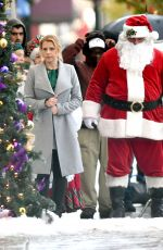 JODIE SWEETIN on the Set of a Christmas Movie in Vancouver 10/13/2017