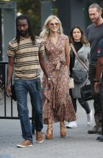 JULIANNE HOUGH at Extra in Los Angeles 10/03/2017