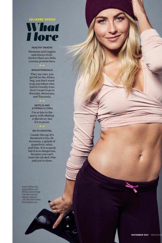 JULIANNE HOUGH in Health Magazine, November 2017 Issue