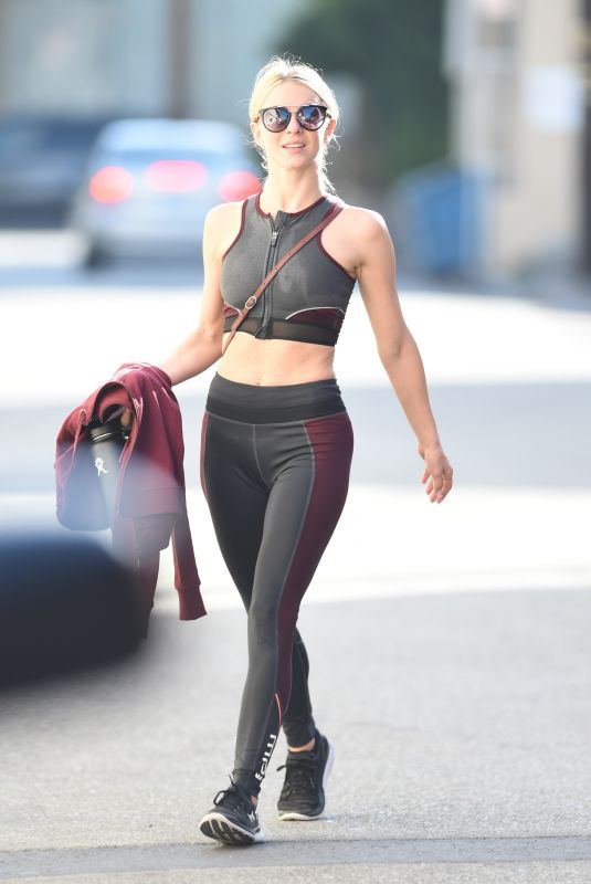 JULIANNE HOUGH Leaves a Gym in Studio City 10/11/2017