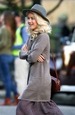JULIANNE HOUGH on the Set of Bigger in Birmingham 10/26/2017