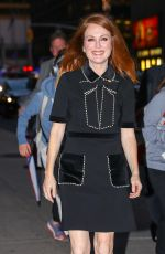 JULIANNE MOORE Arrives at Late Show with Stephen Colbert in New York 10/26/2017