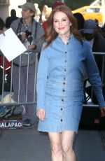 JULIANNE MOORE Arrives at The View Studios in New York 10/18/2017