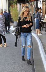 JULIE BENZ in Ripped Jeans Out in Hollywood 10/03/2017
