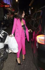 KADY MCDERMOTT Leaves Breast Cancer Awareness Month in London 10/25/2017