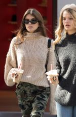 KAIA GERBER and CAYLEY KING Out for Coffee at La Colombe in New York 10/20/2017