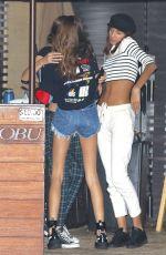 KAIA GERBER in Cut Off Shorts at Nobu in Malibu 10/18/17