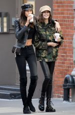 KAIA GERBER Out for Coffee with a Friend in New York 10/30/2017