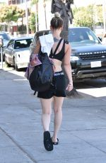 KALEY CUOCO Leaves Yoga Class in Los Angeles 10/02/2017