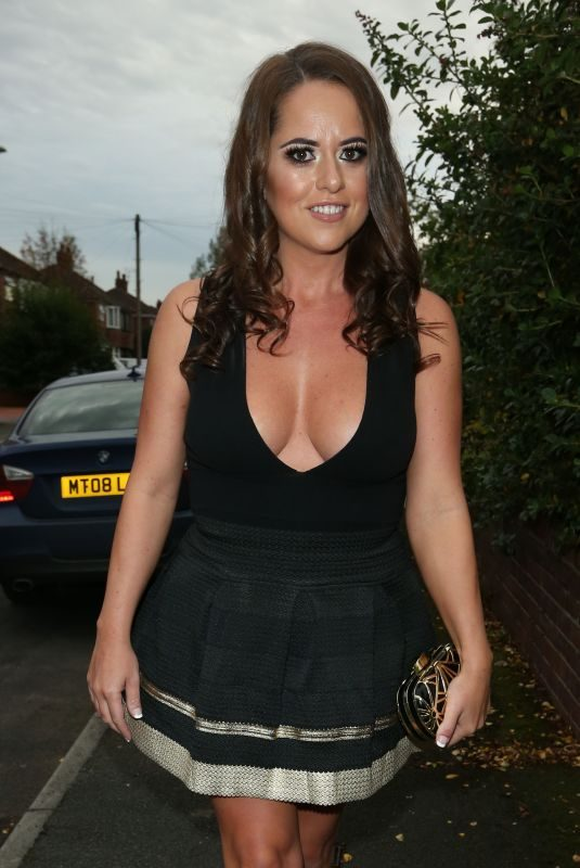 KAREN DANCZUK Leaves Her Home in Manchester 10/06/2017