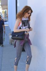 KAREN GILLAN Heading to a Gym in Beverly Hills 10/10/2017