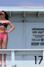 KARINA SMIRNOFF in Bikini at a Beach in Santa Monica 10/29/2017