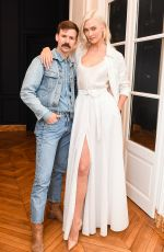 KARLIE KLOSS at CFDA and Vogue Fashion Fund Americans in Paris Cocktail in Paris 09/30/2017