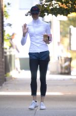 KARLIE KLOSS Training for Upcoming NYC Marathon in New York 10/04/2017