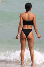 KARRUECHE TRAN in Swimsuit on the Beach in Miami 10/18/2017