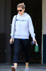 KATE MARA Leaves Bar Method Gym in Silverlake 10/14/2017
