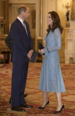 KATE MIDDLETON Celebrates World Mental Health Day with a Reception at Buckingham Palace 10/10/2017