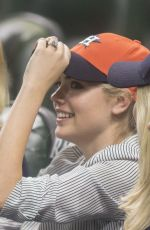 KATE UPTON at a Baseball Game in Maid Park 09/02/2017