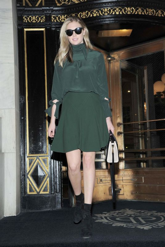 KATE UPTON Leaves Plaza Hotel in New York 10/23/2017