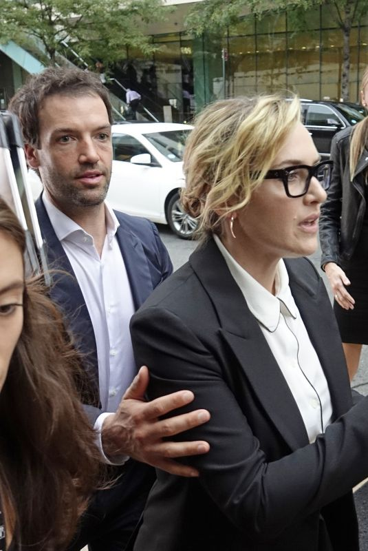 KATE WINSLET and Ned Rocknroll Arrives at New York Film Festival 10/13/2017