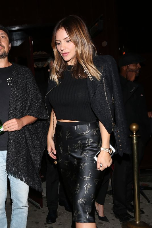 KATHARINE MCPHEE Leaves Peppermint Club in West Hollywood 10/12/2017