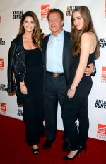 KATHERINE, CHRISTINA and Arnold SCHWARZENEGGER at Killing Gunther Premiere in Los Angeles 10/14/2017
