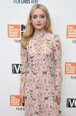 KATHRYN NEWTON at Lady Bird Premiere at 55th New York Film Festival 10/08/2017
