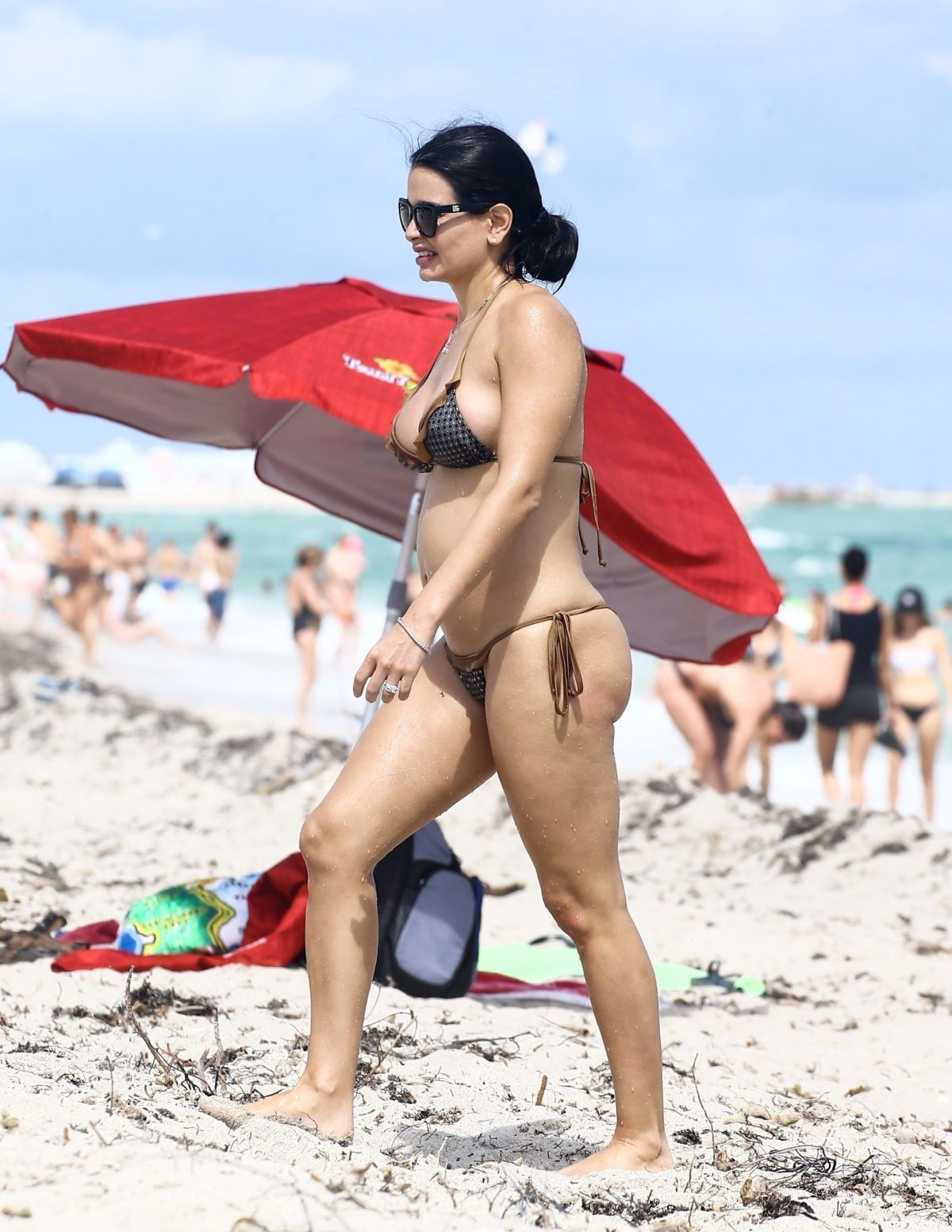 Kathy Picos in Bikini on the beach in Miami Pic 19 of 35