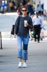 KATIE HOLMES Out and About in New York 10/04/2017
