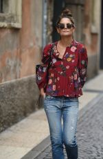 KATIE HOLMES Out and About in Verona 10/07/2017