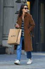 KATIE HOLMES Out Shopping in New York 10/13/2017