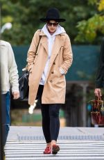 KATIE HOLMES Out with Her Mom Kathleen in New York 10/25/2017