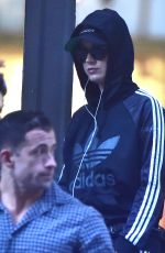 KATY PERRY Shopping at Adidas Store in New York 10/10/2017