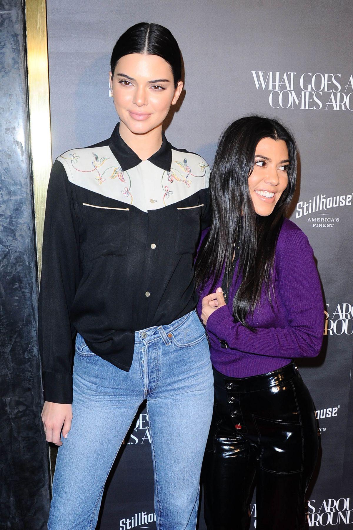 kendall jenner and kourtney kardashian at what goes around