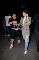 KENDALL JENNER Arrives at Lakers Game in Los Angeles 10/19/2017