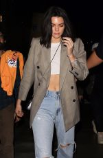KENDALL JENNER Arrives at Staples Center in Los Angeles 10/19/2017