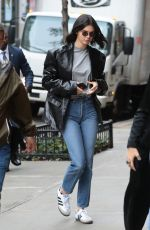 KENDALL JENNER Heading to Adidas Photoshoot in New York 10/24/2017