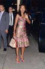 KERRY WASHINGTON Arrives at Late Show with Stephen Colbert in New York 10/04/2017
