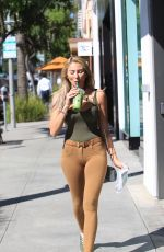 KHLOE TERAE Out for Coffee in Beverly Hills 10/25/2017