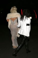 KIM and KOURTNEY KARDASHIAN Arrives at a Halloween Party in Bel-air 10/28/2017