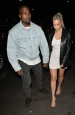 KIM KARDASHIAN and Kanye West Arrives at Kim 37th Birthday Dinner in Los Feliz 10/26/2017