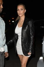 KIM KARDASHIAN and Kanye West Arrives at Kim 37th Birthday Dinner in Los Feliz 10/26/2017