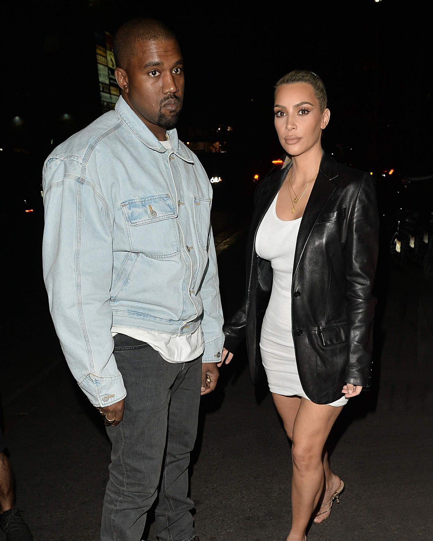 KIM KARDASHIAN And Kanye West Arrives At Kim 37th Birthday