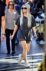 KIM KARDASHIAN Out and About at Disneyland in Anaheim 10/24/2017